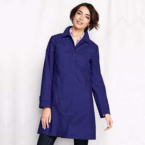 Lands+ End - Purple women+s coastal rain coat