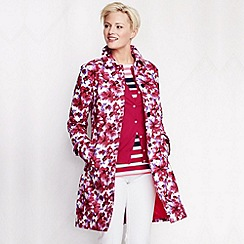 Lands' End - Pink women's pattern coastal rain coat