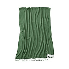 Lands' End - Green women's lovely solid scarf
