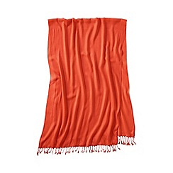 Lands' End - Orange women's lovely solid scarf
