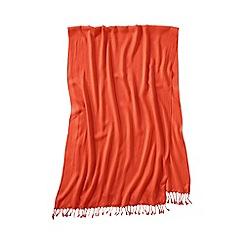 Lands' End - Orange women's lovely solid scarf