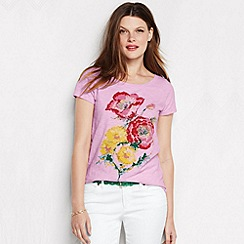 Lands' End - Pink women's art tee