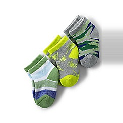 Lands' End - Multi boys' patterned sports socks (3-pack)