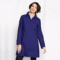 Lands' End - Purple women's petite coastal rain coat