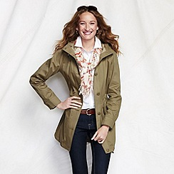 Lands' End - Beige women's cotton parka