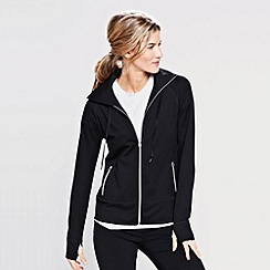 Lands' End - Black women's hooded workout jacket