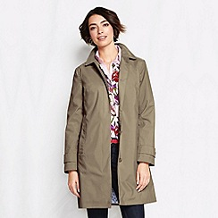 Lands' End - Beige women's plus coastal rain coat