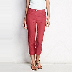 Lands' End - Orange women's regular plain linen blend crops