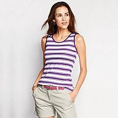 Lands' End - Purple women's regular striped cotton vest top