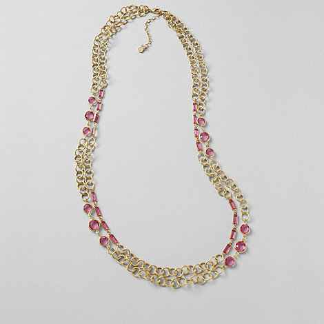 Lands+ End - Multi dewdrop layered necklace
