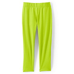 Lands' End - Girls' green cropped leggings