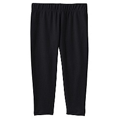 Lands' End - Black little girls' cropped leggings
