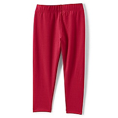 Lands' End - Red girls' cropped leggings