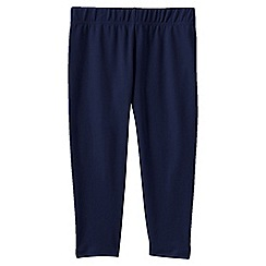 Lands' End - Blue little girls' cropped leggings