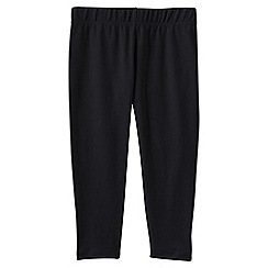 Lands' End - Black girls' cropped leggings