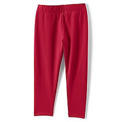 Lands' End - Red girls' cropped leggings
