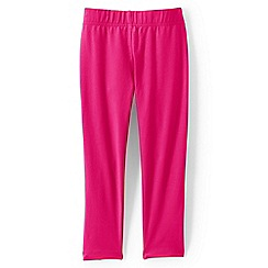 Lands' End - Girls' pink cropped leggings