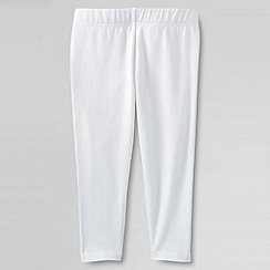 Lands' End - White girls' cropped leggings