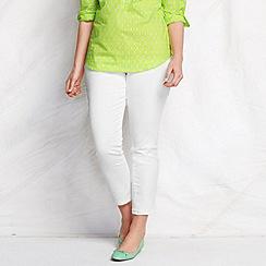 Lands' End - White women's plus white ankle jeans