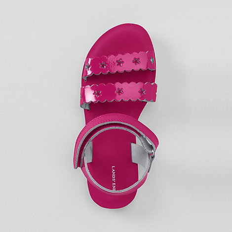 Lands+ End - Pink girls+ darcy play sandals