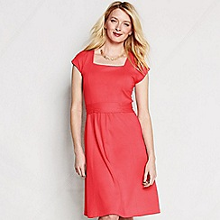 Lands' End - Pink women's regular square neck cotton-modal jersey dress