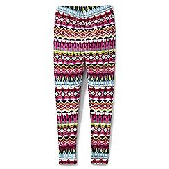 Lands' End - Girls' multi patterned ankle-length jersey leggings