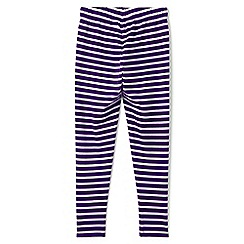 Lands' End - Girls' purple patterned ankle-length leggings