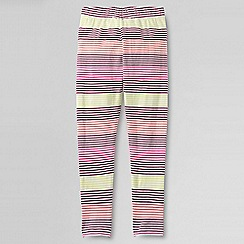 Lands' End - Pink little girls' patterned ankle-length leggings