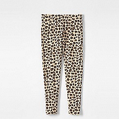 Lands' End - Brown little girls' patterned ankle-length leggings