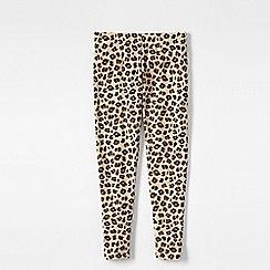 Lands' End - Brown little girls' patterned ankle-length leggings