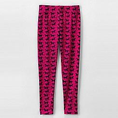Lands' End - Pink little girls' patterned ankle-length leggings