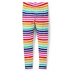 Lands' End - Girls' multicoloured patterned ankle-length leggings