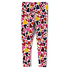 Lands' End - Girls' pink patterned ankle-length leggings