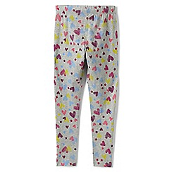 Lands' End - Grey girls' patterned ankle-length leggings