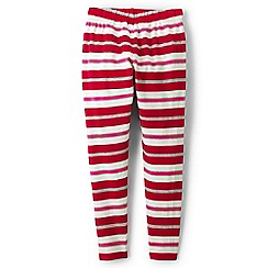 Lands' End - Red girls' patterned ankle-length leggings