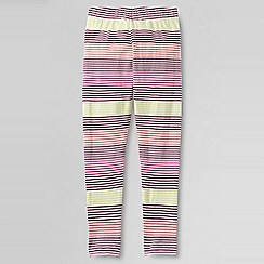 Lands' End - Pink girls' patterned ankle-length leggings