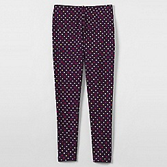 Lands' End - Purple girls' patterned ankle-length leggings