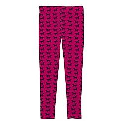 Lands' End - Pink girls' patterned ankle-length leggings