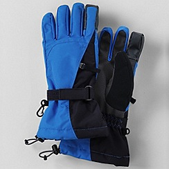 Lands' End - Blue boys' squall gloves