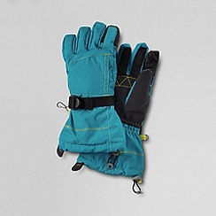 Lands' End - Blue girls' expedition gloves