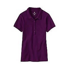 Lands' End - Purple women's regular pique slim fit polo