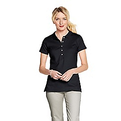 Lands' End - Black women's slim fit pima polo