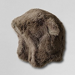 Lands' End - Brown girls' faux fur bear hat