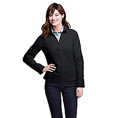 Lands' End - Black women's polartec aircore 100 half-zip