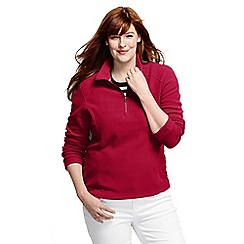 Lands' End - Red women's polartec aircore 100 half-zip