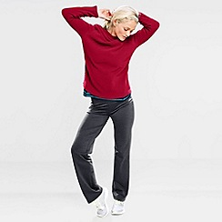 Lands' End - Red women's polartec aircore 100 fleece boatneck pullover