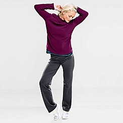 Lands' End - Purple women's polartec aircore 100 fleece boatneck pullover