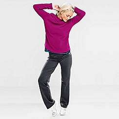 Lands' End - Pink women's polartec aircore 100 fleece boatneck pullover