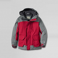 Lands' End - Red boys' waterproof squall parka