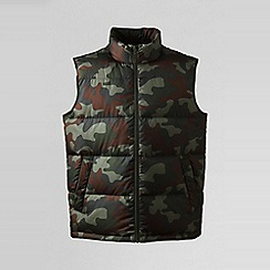 Lands' End - Green camouflage down gilet